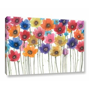 Floral Chorus Painting Print on Wrapped Canvas by Charlton Home