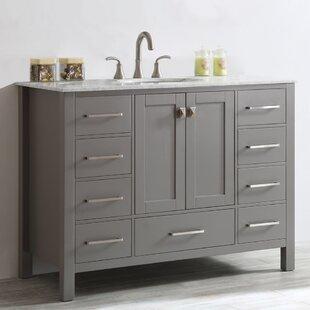 Bathroom vanities you 39 ll love wayfair for 48 inch bathroom vanity base