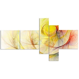 'Yellow Storm Sky' Graphic Art Print Multi-Piece Image on Canvas by East Urban Home