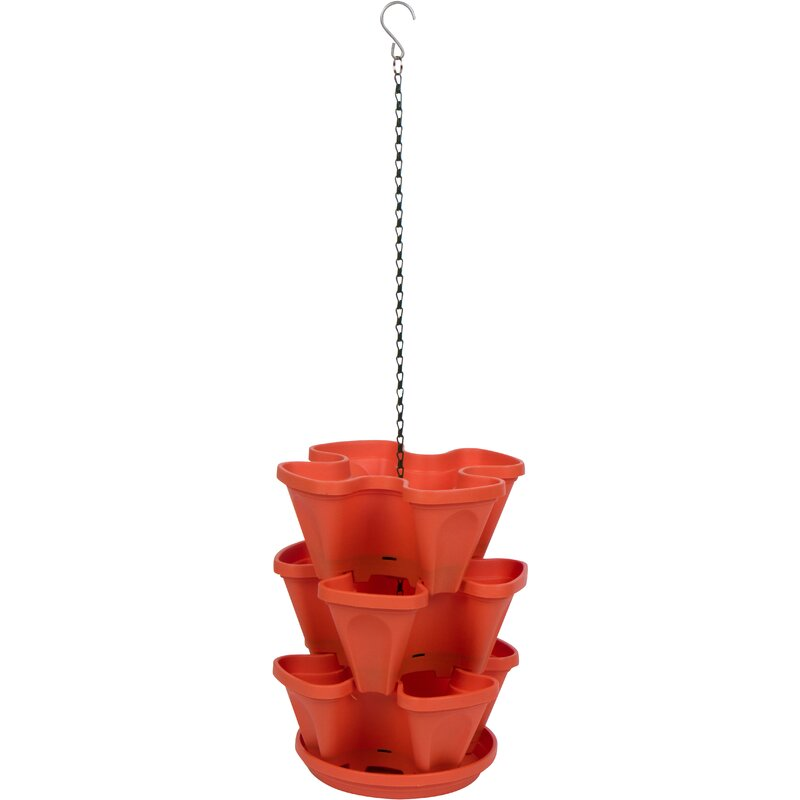 Wrought Studio Giannini 3 Tier Stackable Self Watering Plastic