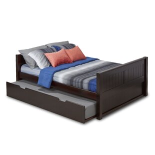 Oakwood Full/Double Panel Bed with Trundle and Drawers