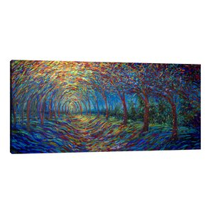 House of Moon & Trees by Iris Scott Painting Print on Wrapped Canvas by Jaxson Rea