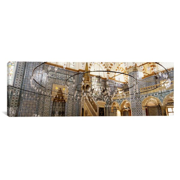 East Urban Home Rustem Pasa Mosque Istanbul Turkey By Panoramic Images Wrapped Canvas Print Wayfair