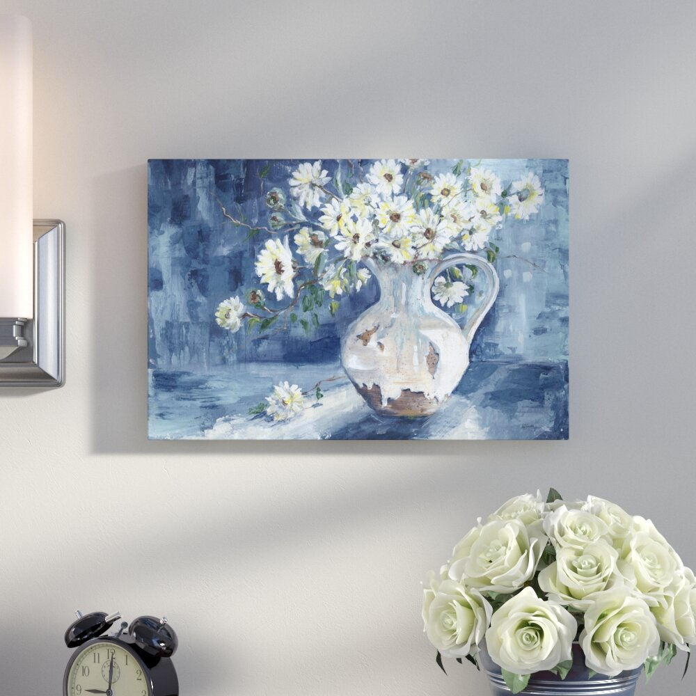 Flowers ready to hang 3 panel mounted wall art print//surpassed stretched canvas