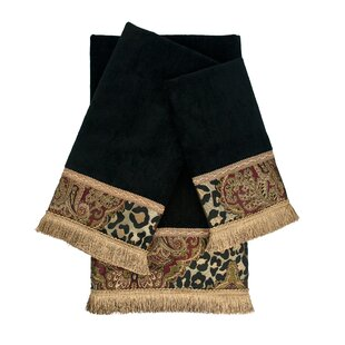 Tangiers Embellished 3 Piece 100 Cotton Towel Set