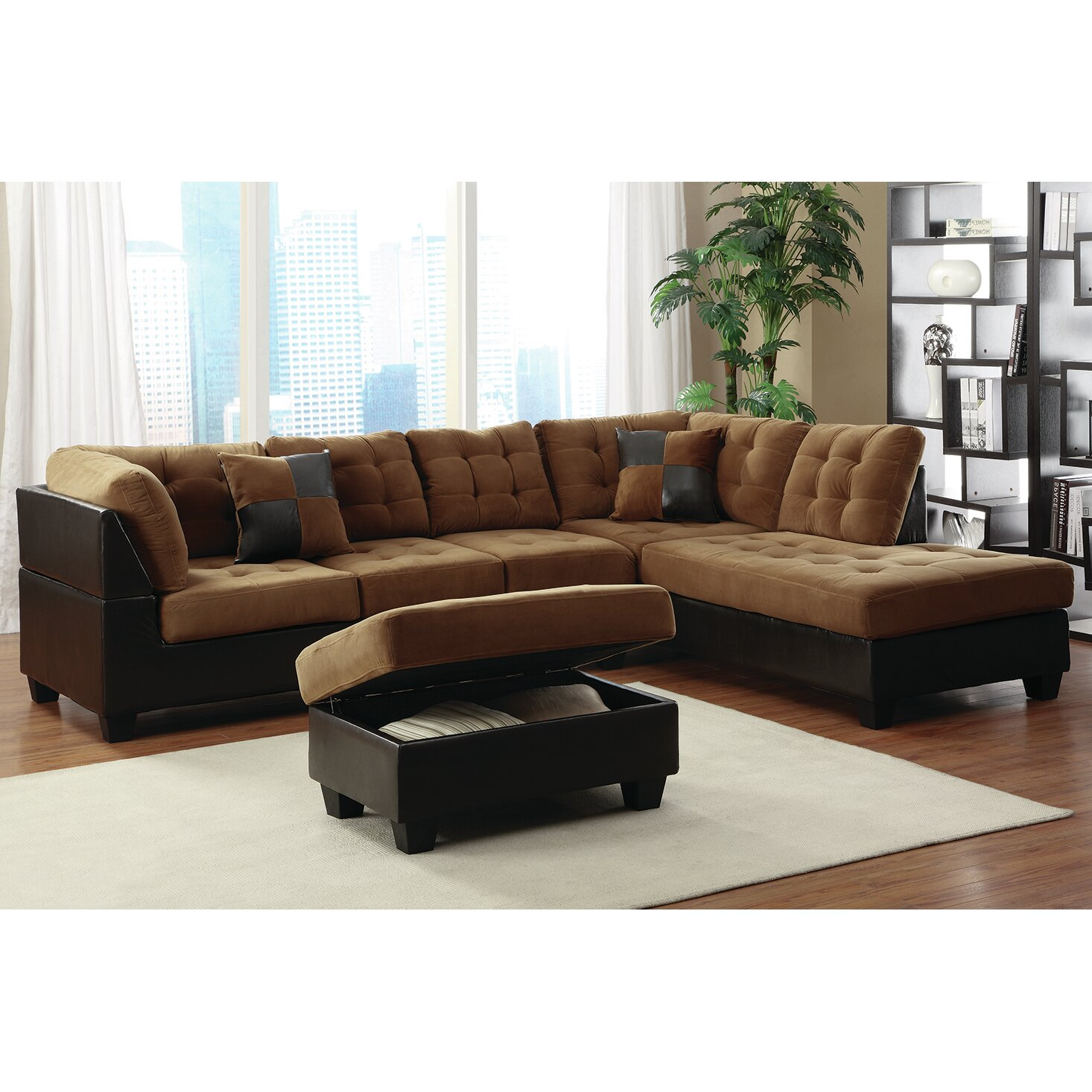 Bestmasterfurniture sectional reviews wayfair for Bartlett caramel left corner chaise sectional