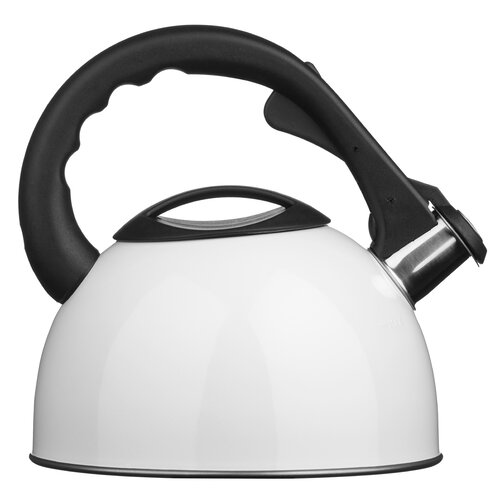 2.5L Stainless Steel Whistling Stove Top Kettle Symple Stuff Colour: White