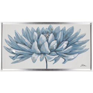 Teal Floral Wall Art | Wayfair