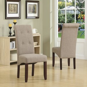 Cosmopolitan Parsons Chair in Linen - Light Mocha (Set of 2) Simpli Home