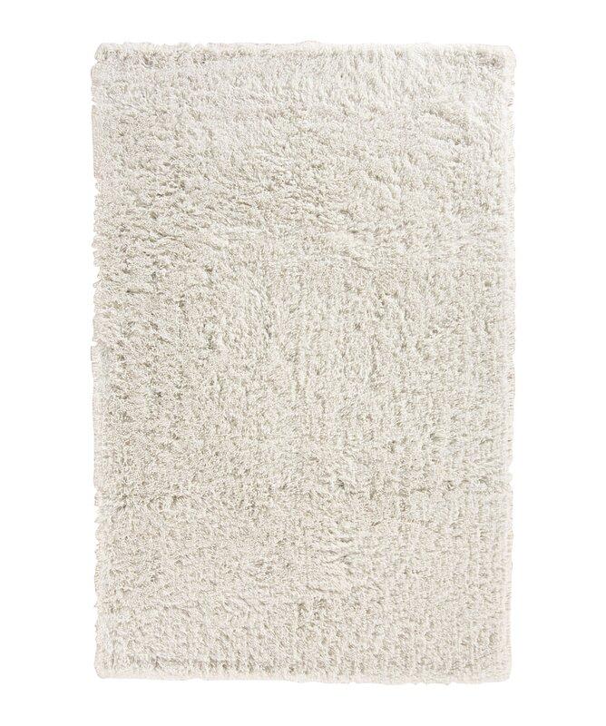 charlton home pierce white shag area rug & reviews | wayfair
