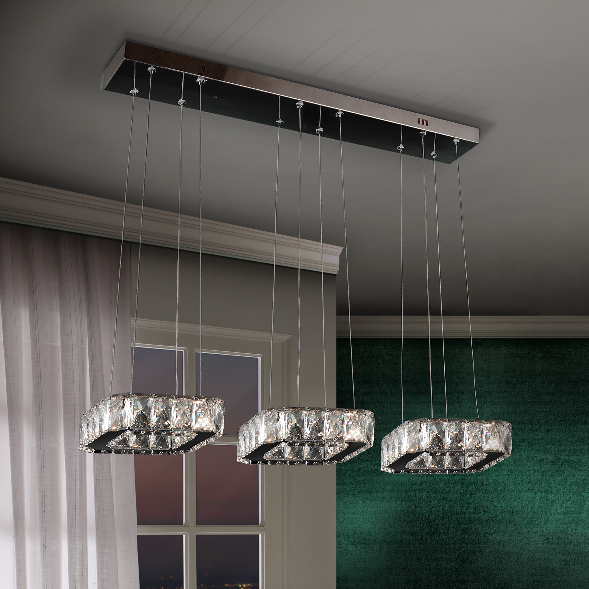 crystal fitting flush light lights all bhs p lila ceiling lighting