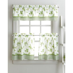 Superieur Cherelle Herb Graden Kitchen Curtains