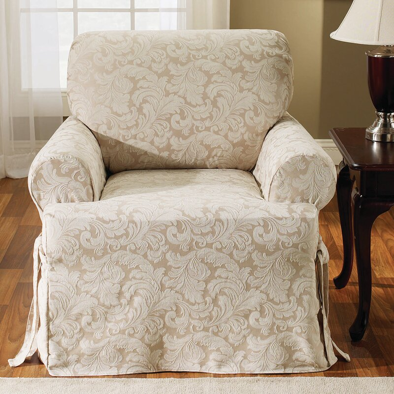 skirted wingback chair sure fit wayfair