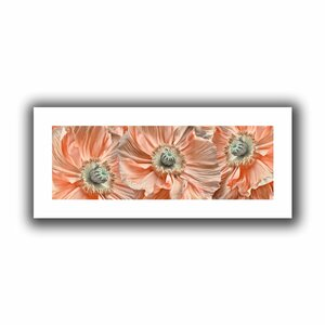 'Poppyscape' Photographic Print on Rolled Canvas by Bungalow Rose