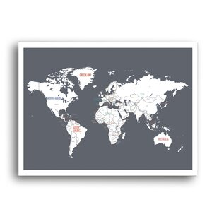 Magnetic world map wayfair world map graphic art gumiabroncs Choice Image