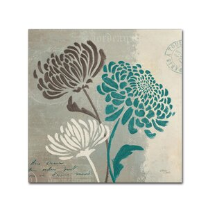 'Chrysanthemums II' by Wellington Studio Graphic Art on Wrapped Canvas by Trademark Fine Art