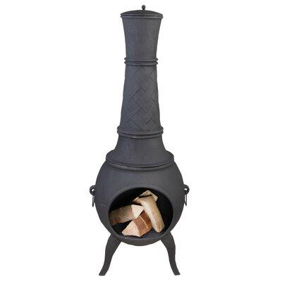 Millwood Pines Hundley Terrace Heater Cast Iron Wood Burning Chiminea
