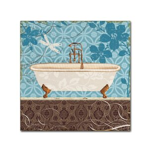 Eco Motif Bath II by Lisa Audit Painting Print on Wrapped Canvas by Trademark Fine Art