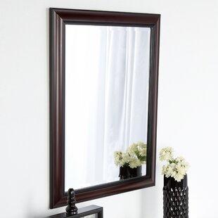 DesignOvation Dalat Cherry Framed Vanity Beveled Wall Mirror