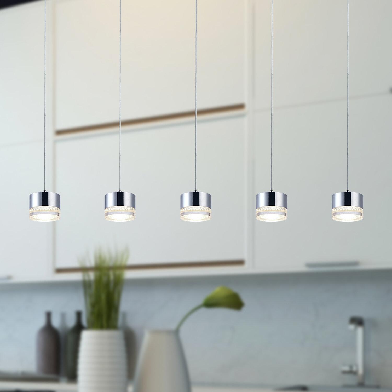 Orren Ellis Barnsdall 5 Light Led Kitchen Island Pendant