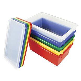Stackable Plastic Storage Bin Set (Set of 12) By Offex