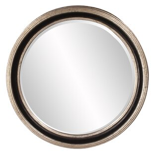 Darby Home Co Round Silver Leaf Accent Mirror