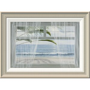 'View of the Tropics' by Diane Romanello Framed Painting Print by Global Gallery
