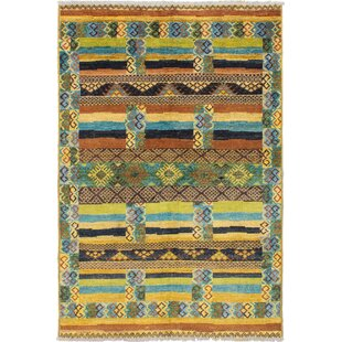 Shopping for One-of-a-Kind Cheadle Hand-Knotted 5'2 x 7'8 Wool Brown/Yellow Area Rug By Bloomsbury Market