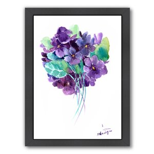 African Violets Framed Painting Print by East Urban Home