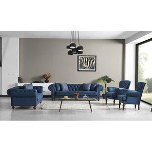 Khari 4 Piece Living Room Set by Canora Grey