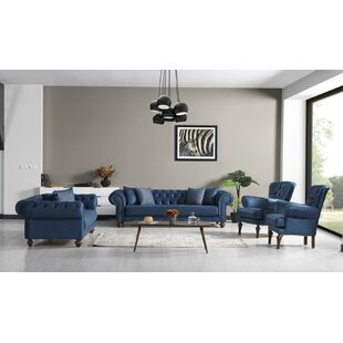 Reign 4 Piece Living Room Set by Canora Grey
