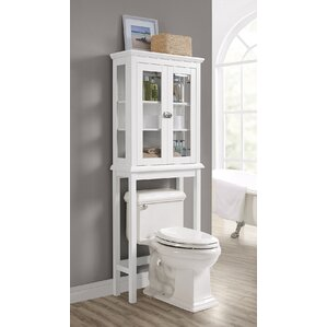Bathroom Etagere over the toilet storage cabinets | wayfair