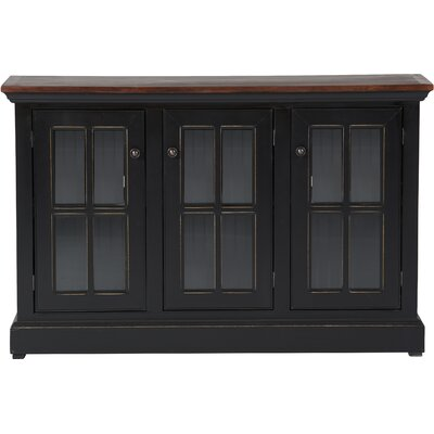 August Grove Southville Sideboard  Base Color: Khaki Green, Top Color: Concord Cherry