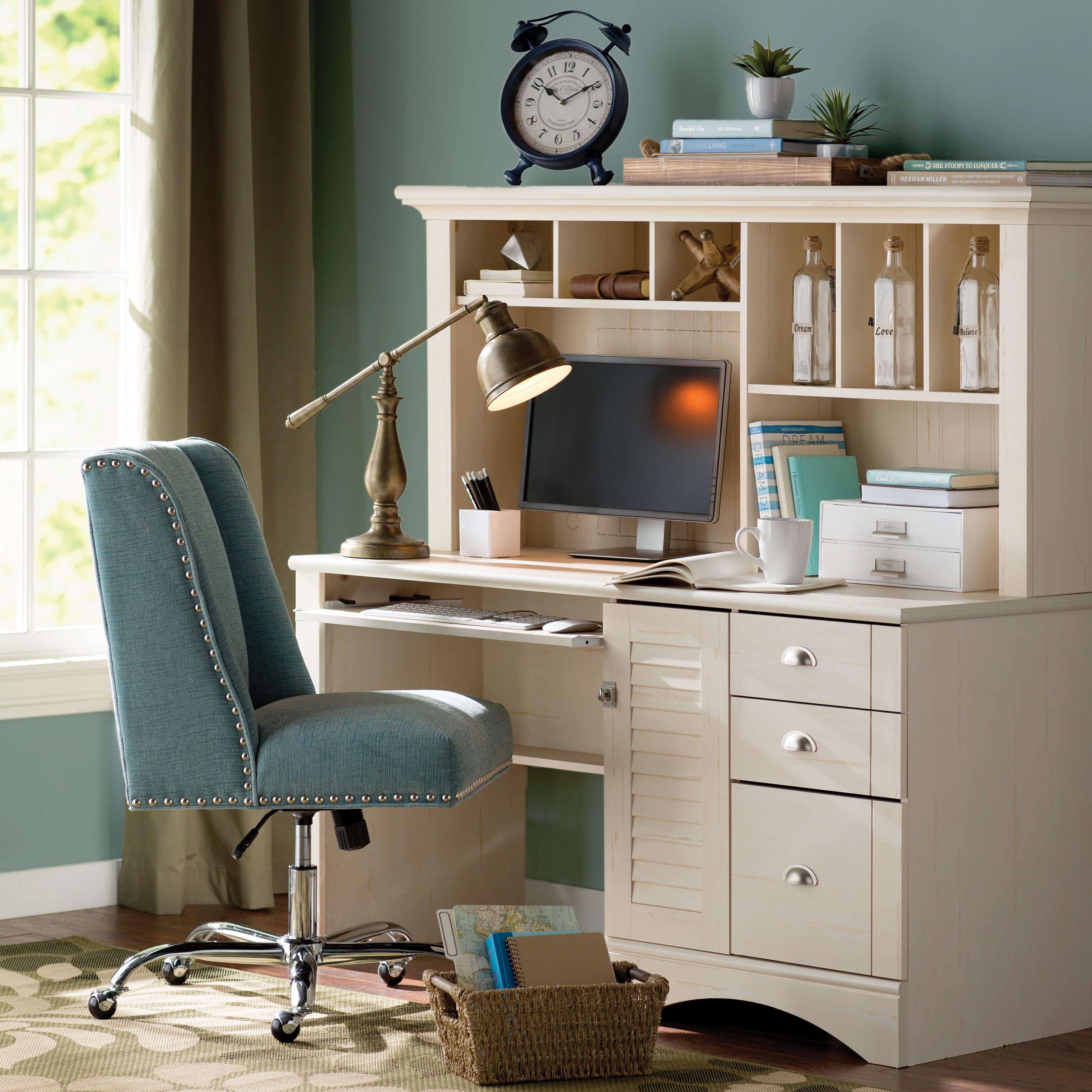 beachcrest home pinellas computer desk with hutch reviews wayfair