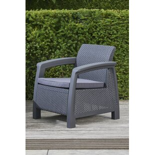 Berard All Weather Outdoor Patio Chair with Cushion byMercury Row