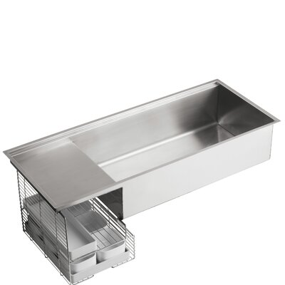 Stages Undermount Single Bowl Wet Surface Area Kitchen Sink