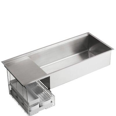 Stages Undermount Single Bowl Wet Surface Area Kitchen Sink