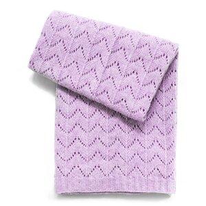 Fan Stitch Wool Blend Baby Blanket