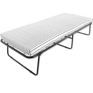 Metal Folding Bed with Mattress by Nova Furniture