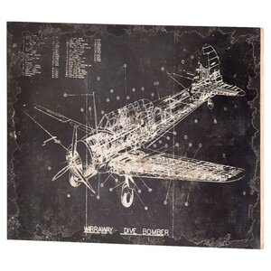 Dive Bomber Wall Decor Graphic Art Plaque by Mercana