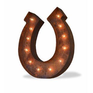 Inexpensive Horseshoe 12-Light Indoor/Outdoor Marquee Light By TrekBeds