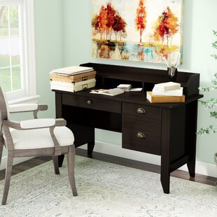 Baker Computer Desk with Hutch by Three Posts