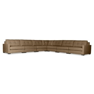 Secrest Buttoned Right and Left Arms L-Shape Modular Sectional