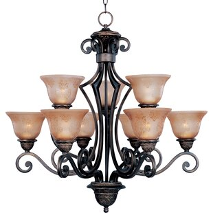 Check Prices Alsager 9-Light Shaded Chandelier By Fleur De Lis Living