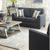 Carmelle 64 Square Arm Loveseat by Albany