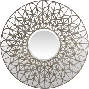 Bungalow Rose Carnesville Contemporary Round Wall Mirror