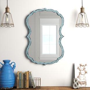 Lark Manor Antiqued Light Blue Accent Mirror