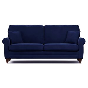 Cordele Sofa. Brown Navy Blue Red