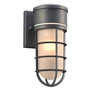 Compare Hamer 1-Light Outdoor Sconce By Breakwater Bay