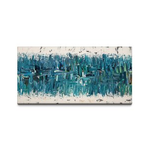Blue Nile by Carmen Guedez Painting Print on Canvas by Mercury Row